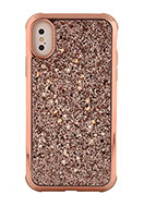 www.snowfall-fashion.co.uk - Synthetic phone case for iPhone X with glitter 14,8x7,6cm - F06625