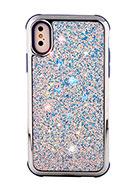 www.snowfall-perles.be - Housse pour portable en synthétique iPhone X avec paillettes 14,8x7,6cm - F06627