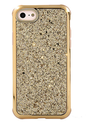 www.snowfall-fashion.co.uk - Synthetic back cover phone case for iPhone 8 with glitter 14,3x7,2cm