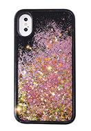 www.snowfall-fashion.co.uk - Synthetic phone case for iPhone X with glitter 14,7x7,4cm - F06650