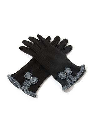 www.snowfall-fashion.de - Touchscreen Handschuhe mit Schleife