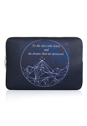 www.snowfall-fashion.co.uk - Laptop sleeve 13,3 inch with bohemian print 34x24x2cm