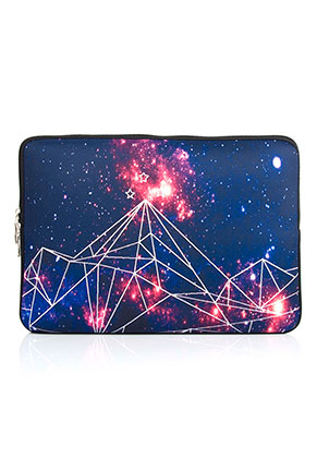 www.snowfall-fashion.com - Laptop sleeve 13,3 inch with bohemian print 34x24x2cm