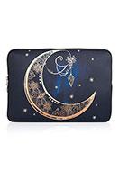 www.snowfall-fashion.nl - Laptop sleeve 13,3 inch met bohemian maan print 34x24x2cm - F06850