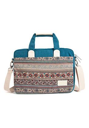 www.snowfall-fashion.fr - Canvas artisan etui/sac pour ordinateur portable 15,4 pouces avec fleurs 39x30x7cm
