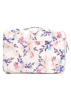 www.snowfall-fashion.co.uk - Laptop sleeve 13,3 inch with flowers 35x25x3cm