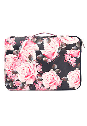 www.snowfall-fashion.be - Laptop sleeve 13,3 inch met rozen 35x25x3cm