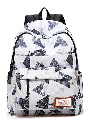 www.snowfall-fashion.co.uk - Bansusu backpack with triangles 40x32x16cm