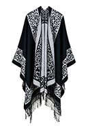 www.snowfall-fashion.com - Open poncho/cape with panther print 150x130cm - F07142