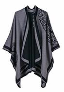 www.snowfall-fashion.nl - Open poncho/cape met mandala print 150x130cm - F07146