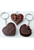 www.snowfall-beads.com - Mix synthetic key fob heart (do not eat) ± 40x17mm