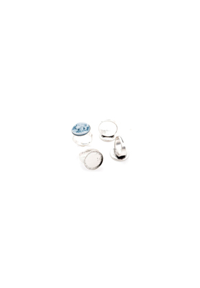 www.snowfall-beads.co.uk - Metal rings >= Ø 18mm with setting for ± 18mm flat back