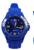 www.snowfall-beads.nl - Siliconen/kunststof horloge met draaibare ring/lunette ± 25x43x20mm (in maat verstelbaar)