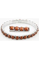 www.snowfall-beads.com - Metal bracelet with settings and synthetic pointed backs ± 5,5mm, stretchable, innersize ± 20cm - J02459