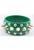 www.snowfall-beads.de - Kunstleder Armband mit Studs ± 10x4cm, Innermaß ± 21cm