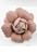 www.snowfall-beads.nl - Metalen klap oorbel met imitatieleren bloem ± 42mm