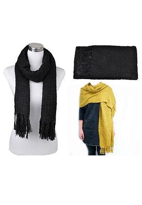 www.snowfall-beads.com - Wool scarf (polyester), soft, good quality ± 190x50cm