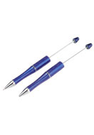 www.snowfall-beads.com - Synthetic/metal beadable pens 15cm - J03399