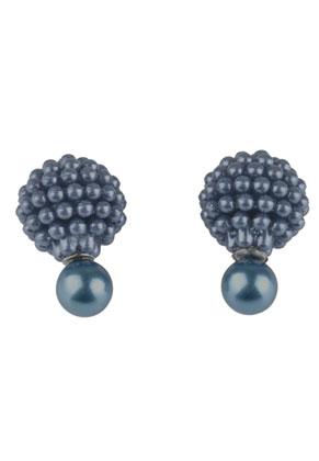 www.snowfall-beads.nl - Dubbele parel oorbellen 23x15mm