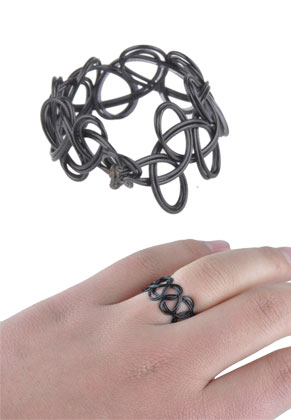 www.snowfall-beads.com - Stretchable tattoo ring