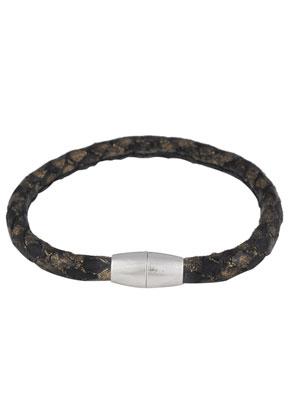 www.snowfall-beads.be - Imitatieleren armband 21cm