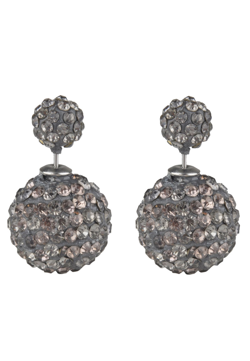 boucles d 39 oreille double perle avec strass 25x16mm. Black Bedroom Furniture Sets. Home Design Ideas