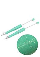 www.snowfall-beads.com - Synthetic/metal beadable pens 15cm - J03695