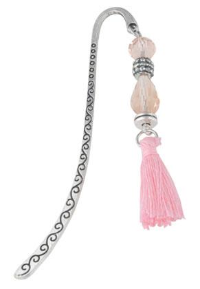 www.snowfall-beads.nl - Boekenlegger met kwastje 86x14mm