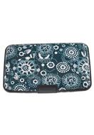 www.snowfall-fashion.fr - Portemonnaie/etui pour carte de credit en aluminium avec fleurs 11x7,5cm - J03832