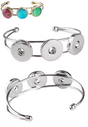 www.snowfall-beads.fr - DoubleBeads Easybutton bracelet en métal