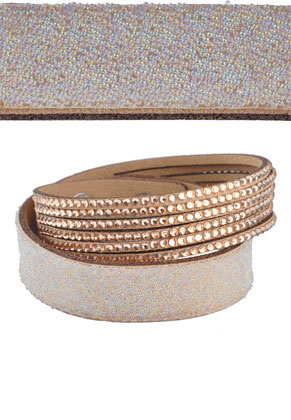 www.snowfall-fashion.fr - Bracelet wrap avec strass 17-19cm