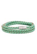 www.snowfall-beads.com - Leather wrap bracelet 18cm - J04173