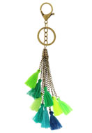 www.snowfall-beads.com - Key fob with tassels 22cm - J04207