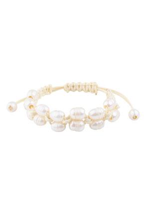 www.snowfall-beads.be - Armband met waxkoord en zoetwaterparels 18-22cm