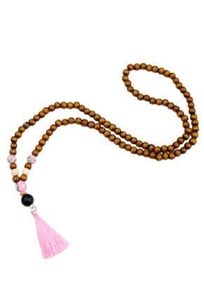 www.snowfall-beads.es - Collar Mala con borla (108 abalorios) 74cm
