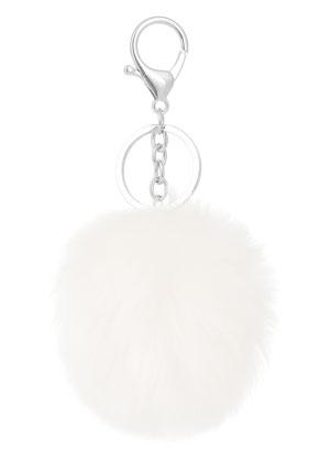 www.snowfall-beads.be - Sleutelhanger met pluizenbol
