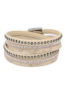 www.snowfall-beads.nl - Wikkelarmband met strass 18cm - J04318