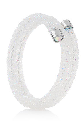 www.snowfall-beads.fr - Bracelet bangle avec strass 19cm