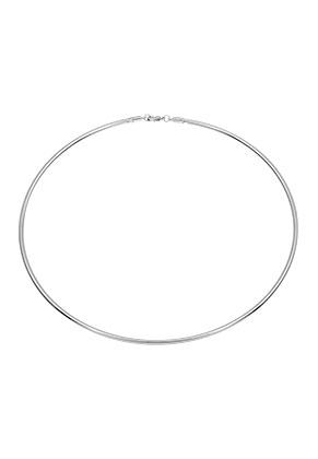 www.snowfall-beads.fr - Collier rigide en métal 43cm (3mm gros)