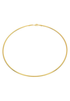 www.snowfall-beads.com - Metal neck bangle 43cm (3mm wide)