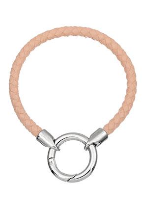 www.snowfall-beads.nl - EasyClip leren armband 19cm