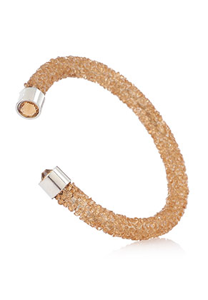 www.snowfall-beads.nl - Strass cuff armband 17cm