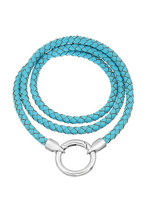www.snowfall-beads.com - EasyClip leather necklace 60cm
