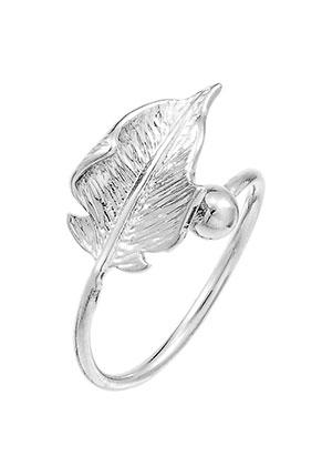 brass ring leaf 17mm Rose Gold Leaf Ring snowfall beads brass ring leaf 17mm