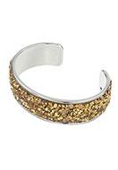 www.snowfall-beads.nl - Brass cuff armband met strass 20cm, 2cm breed - J04655
