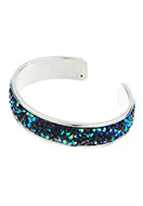 www.snowfall-beads.com - Brass cuff bracelet with strass 19cm, 1,5cm wide - J04663