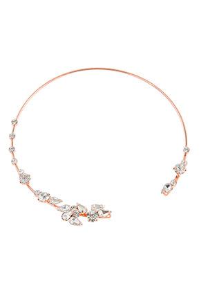 www.snowfall-beads.de - Brass Halsreif mit Strass 35,5cm
