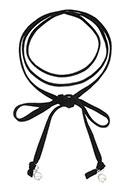www.snowfall-fashion.fr - Choker wrap avec perles synthétique 130cm - J04805