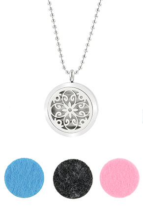 www.snowfall-beads.com - Stainless steel DoubleBeads EasySwitch perfume locket necklace set DQ 80cm