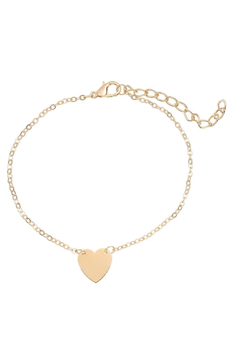 bracelet bracelet de cheville avec coeur 21 26cm. Black Bedroom Furniture Sets. Home Design Ideas
